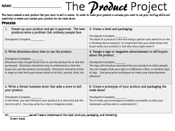 Writing Functional Text: The Product Project