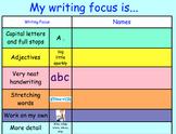 Writing Gaol - Self Assessment - Checklist - Notebook