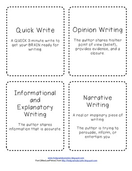 Writing Genre Definitions