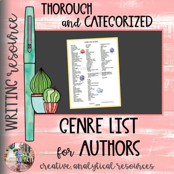 Writing Genre List for Authors
