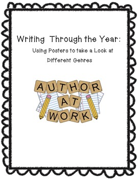 Freebie: Writing Genre Posters/Reference Sheets for the Year!