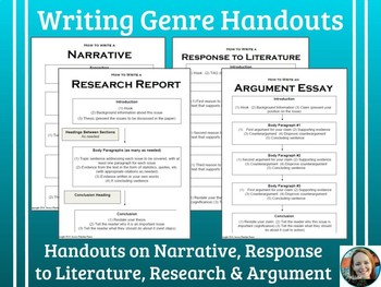 Writing Genres Handouts