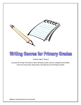 Writing Genres for Primary Grades High 1st, 2nd & 3rd