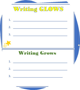 Writing Glows and Grows