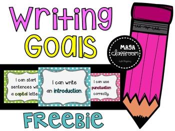 Writing Goals - Monitoring Chart