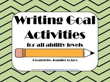 Writing Goal Activities