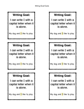 Writing Goal Cards