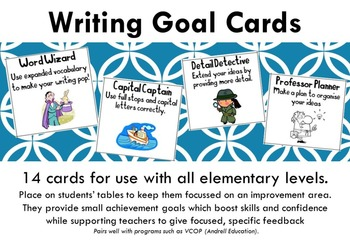 Writing Goal Cards