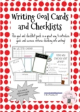 Writing Goal Cards and Checklist Pack