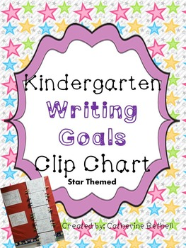 Kindergarten Writing Clip Chart