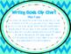 Writing Goal Clip Chart and Checklist (Chevron Theme)