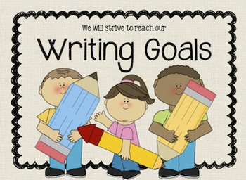 Writing Goal Clip Chart for Students - Aligned with 3rd Gr