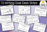 Writing Goals Desk Slips x 5 for Kindergarten / Prep