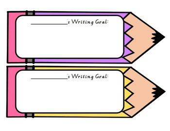 Writing Goal Pencils - write and wipe