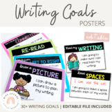 Writing Goal Posters