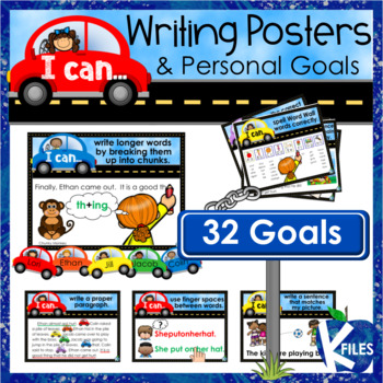 Writing Goal Posters and Brag Tags with