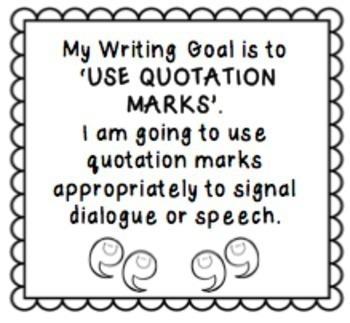Writing Goals - Reminder Slips