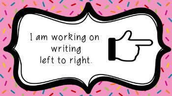 Writing Goal Set in Sprinkles Design