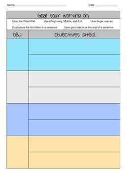 Writing Goal Set with Antedotal Sheet