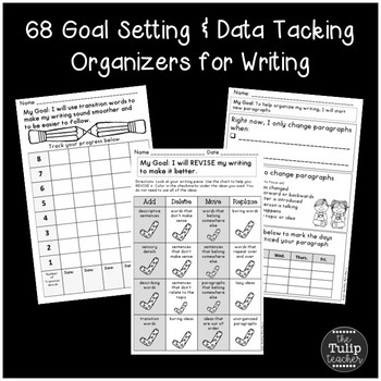 Writing Goal Setting {Editing, Revising, Craft, Stamina, Spelling}
