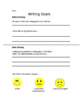 Writing Goal Sheet