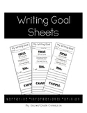 Writing Goal Sheets