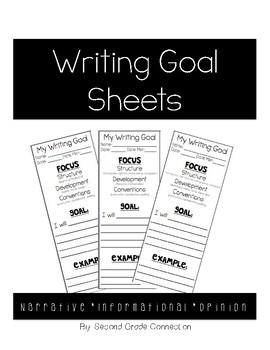 Writing Goal Sheets