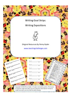 Writing Goal Strips: Writing Expositions