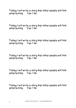 Writing Goal Strips: Writing Fictional Narratives
