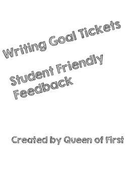 Writing Goal Tickets Bundle!