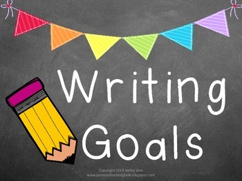 Writing Goal and Writing Process Clip Chart