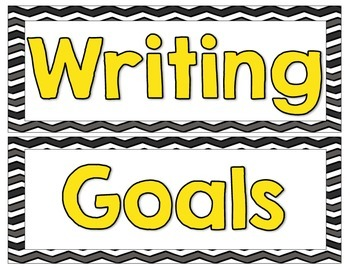 Bright Writing Goals
