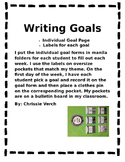 Writing Goal Tracking Forms First Grade