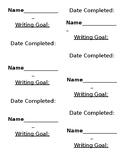 Writing Goals
