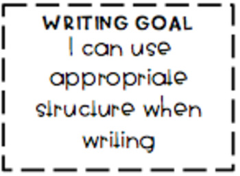 Writing Goals Book Slips aligned with the Australian Curriculum {10 goals}