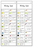 Writing Goals Bookmark Kindergarten Foundation Checklist