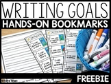 Writing Goals Bookmarks and Writing Paper FREEBIE