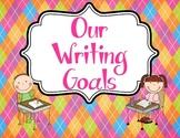Writing Goals Bulletin Board