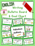 Writing Goals Bulletin Board / Clip Chart (English)