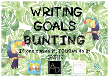 Writing Goals Bunting