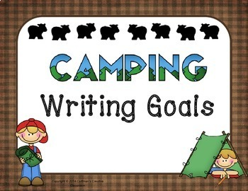 Writing Goals- Camping Theme