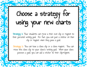 Writing Goals Chart (Fish Version)