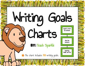 Writing Goals Chart (Jungle Version)