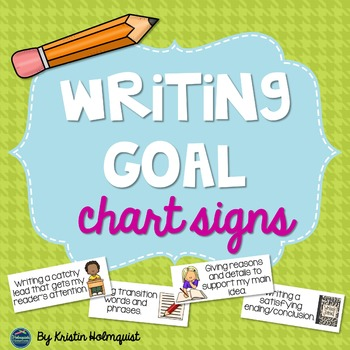 Writing Goals Chart Signs