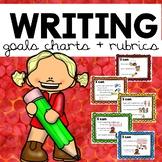 Writing Goals Chart and Writing Rubrics