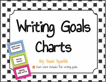 Writing Goals Charts