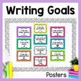Writing Goals (Editable Chevron Posters/Clip Chart)