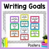 Writing Goals (Editable Chevron Posters/Clip Chart)