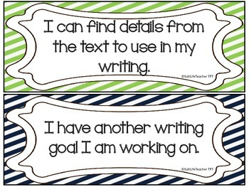 Writing Goals Clip Chart