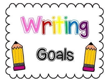 Writing Goals Clip Chart